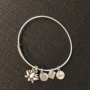 Alex and Ani silver Lotus bracelet